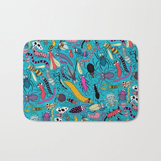Bug Pattern Bath Mat