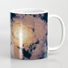 Full moon through purple clouds Coffee Mug