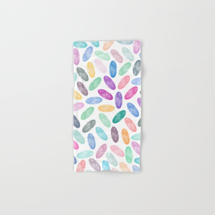 Watercolor Lovely Pattern VII Hand & Bath Towel