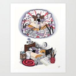 El Monstruo pintado (Parte II) Art Print