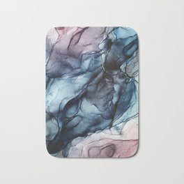 Blush and Darkness Abstract Paintings Bath Mat