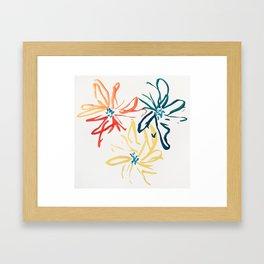 Gestural Blooms Framed Art Print