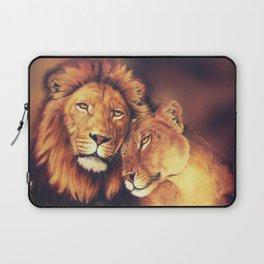 Lions Soulmates Laptop Sleeve