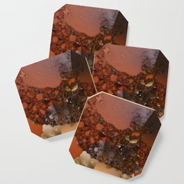 Study of textures and terra cotta Coaster