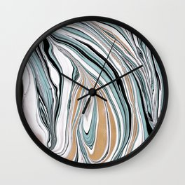 Teal Scape Wall Clock