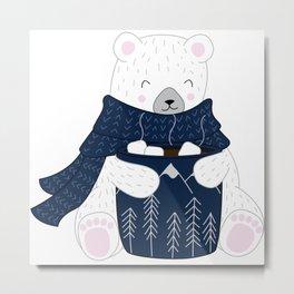 Hot Chocolate Bear Metal Print