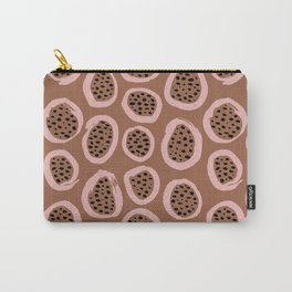 Raw brush minimal fruit garden abstract circle pattern Carry-All Pouch