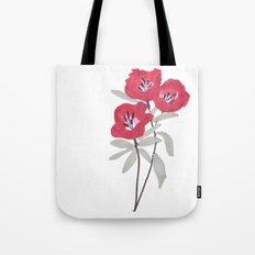 Clarkia Red Flower Tote Bag