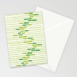 Green Triangle Arrow Trees Stationery Cards