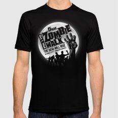 Zombie Walk Mens Fitted Tee Black SMALL