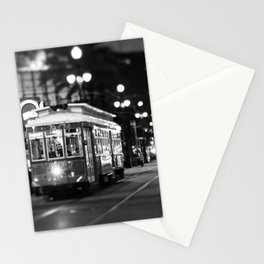 New Orleans Canal Street at Night Stationery Cards