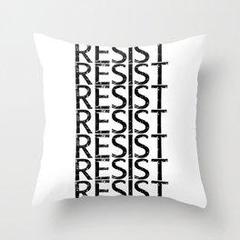 RESIST Print Throw Pillow