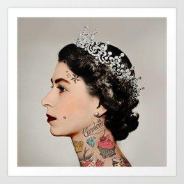 Tattoo #queen Art Print
