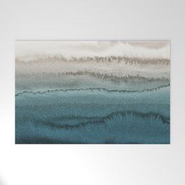 WITHIN THE TIDES - CRASHING WAVES TEAL Welcome Mat