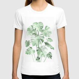 Delicate Monstera Green #society6 T-shirt