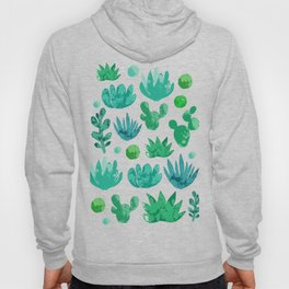 Watercolor succulents and cactus Hoody
