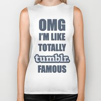 tumblr Biker Tanks featuring Tumblr Famous by Ferris Bueller