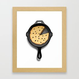 Skillet Cookie Framed Art Print