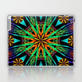 Colourful fantasy flower with tribal patterns Laptop & iPad Skin