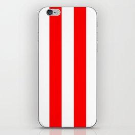 Australian Flag Red and White Wide Vertical Beach Stripe iPhone Skin