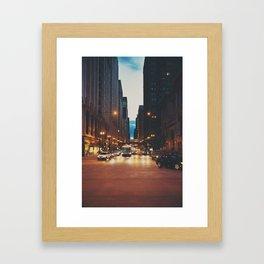 the streets of Chicago ... Framed Art Print
