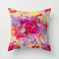 Wild sprouts in CMYK Throw Pillow