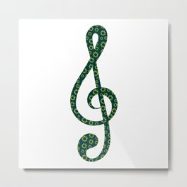 Musical repeating pattern No.6, Collection No.1 Metal Print