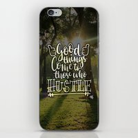 hustle iPhone & iPod Skins featuring Hustle! by Art4Anj