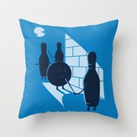 vendetta Throw Pillows featuring Vendetta by grodas