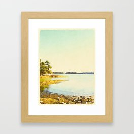 Wolfe's Neck State Park, ME Framed Art Print