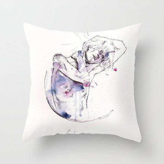 circles - con occhi porpora Throw Pillow