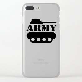 Army Tank Clear iPhone Case