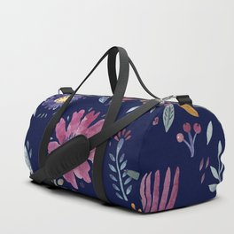 Watercolor Flowers Duffle Bag