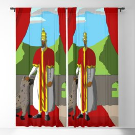 Menelik of Ethiopia Blackout Curtain