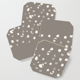 Dappled Hide in Taupe Coaster