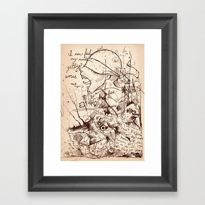 No God without the Devil Framed Art Print