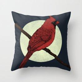 Night Cardinal Throw Pillow