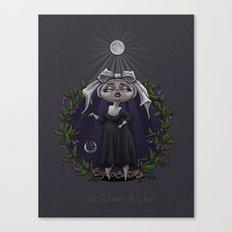 Sous La Lumière De La Lune Canvas Print