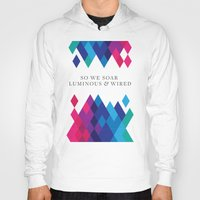coldplay Hoodies featuring So We Soar Luminous & Wired by Arnaldo Quintini