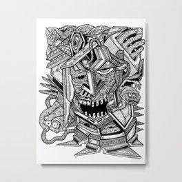 Geometric Mutations: Time to Wake Up Metal Print