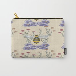 Bee and wildflower print  Carry-All Pouch