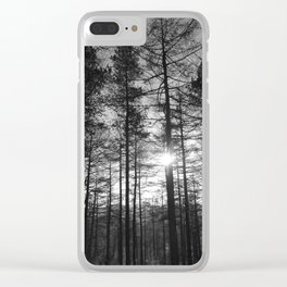 Winter Pine Forest 1 Clear iPhone Case