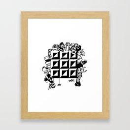 Monster bunch Framed Art Print