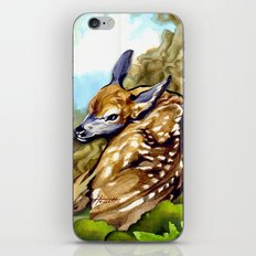 Fawn Parked in the Trees iPhone Skin