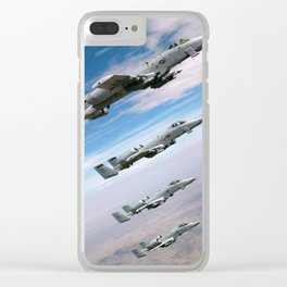 BEAUTIFUL AIRPLANE FORMATION Clear iPhone Case