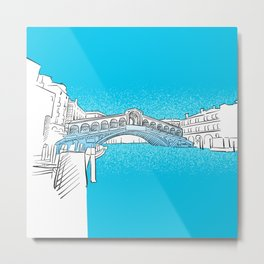 Venice Rialto Bridge Metal Print
