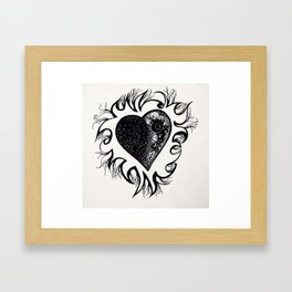 """If I Had A Heart, This Is What It Would Look Like"" Framed Art Print"