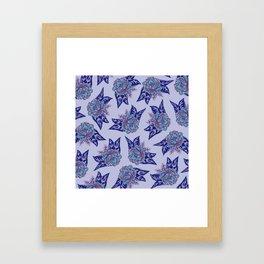 Cabbage Roses in Lavender Framed Art Print