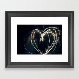 Sparkler Love II Framed Art Print