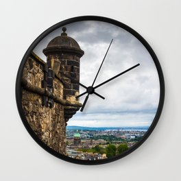 View of Edinburgh, Scotland from Edinburgh Castle Wall Clock